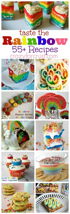 Over 55 Rainbow Recipes   crazyforcrust.com   You'll find something for every occasion!