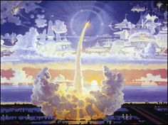 Robert McCall Paintings | Robert McCall — The Spirit of Challenger — 1995