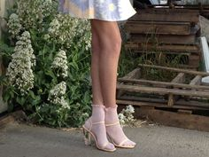 Crystal Clear Marc Jacobs Spring 12 dress and some Lucite Sandals