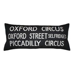 Vintage Inspired Oxford Circus Cushion - SAVE 50%