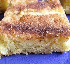 Snickerdoodle brownies - Another pinner said: I have made these three times this week for parties, they are easy and awesome!.