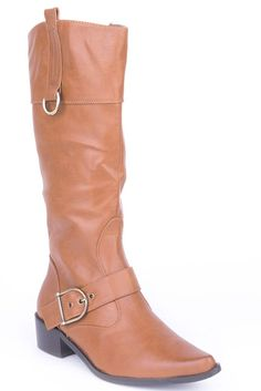 Camel Calf Boots with Buckle Detail – 1Deebrand #fashion #beauty #boot #womensboot #slippers #sandals #wedges #footwear #ladies #ladiesfootwear #womensfashion #1deebrand