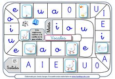 Goose Game to practice Spanish vowels Spanish Classroom, Teaching Spanish, Familia Y Cole, Phonological Awareness, Kids Learning Activities, Spanish Lessons, Kids Education, Kids And Parenting, Literacy