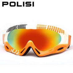 0ec9b9744317 POLISI Winter Snow Skate Ski Goggles Anti-Fog UV400 Lens Snow Skiing  Glasses Children Kids