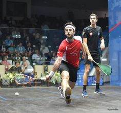 It's surprising how much power you're able to generate with a short swing.   Note how Daryl has straightened his arm but left his racket behind his hand allowing him to whip through the ball using his wrist.