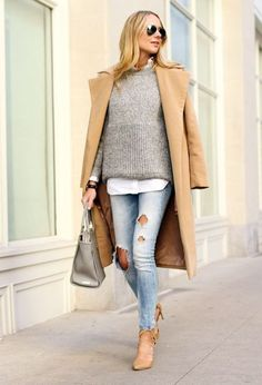 long coat fall outfit- Cute and chic fall outfit ideas http://www.justtrendygirls.com/cute-and-chic-fall-outfit-ideas/