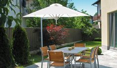 Paraflex outdoor umbrellas with wall mount option