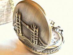Ketten lang - GENTLEMEN Retro Vintage Taschenuhr Uhr Kette lang  - ein Designerstück von Mont_Klamott bei DaWanda