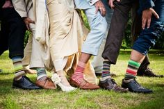 groomsmen and bride- cute pic + sub colorful argyle socks(my fav)