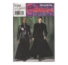 Matrix Costume Sewing Pattern Neo's Duster by HoneymoonBus on Etsy