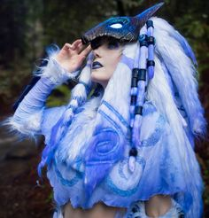 Kindred cosplay by Jessica Nigri, League of Legends