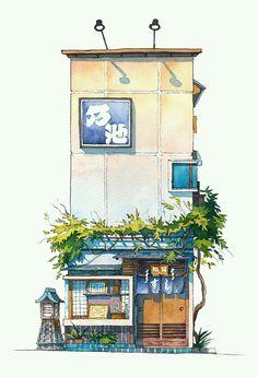 Tokyo Storefront #10 Noike https://www.artstation.com/p/m6vg8 Mateusz マテウシュ Urbanowicz ウルバノヴィチ Animation Creator, Background Artist -- Share via Artstation Android App, Artstation © 2016