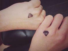friend's tattoo, best friends, couple tattoo , diamond tattoo,hand tattoo,