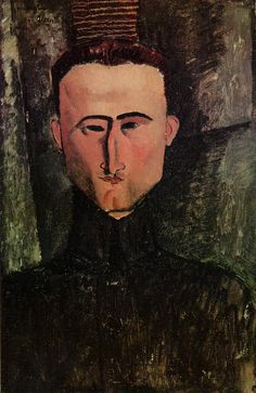 "artist-modigliani:""Andre Rouveyre, Amedeo ModiglianiMedium: oil on canvas"" Amedeo Modigliani, Modigliani Paintings, Italian Painters, Italian Artist, Matisse, Montage Photo, Art Moderne, Look At You, Art For Art Sake"