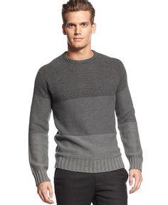 Calvin Klein Colorblock Crewneck Sweater. $98.00. #fashion #men #winter fashion