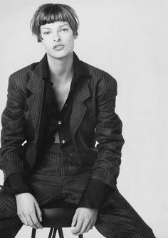 Suits Without The Starch - Vogue US (1993) Linda Evangelista by Meisel