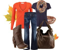 """Fall Orange"" by anne-ratna on Polyvore"