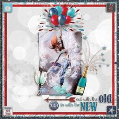 GingerScraps :: Kits :: At Midnight Kit by JoCee Designs  Layout by CTM Cathy  #digitalscrapbooking#digiscrapping#digitalart#scrapbooking#makingmemories#Midnight#new year#new years' eve#auld lang syne#happy new year#balloons#champagne#fireworks#party#hat#noise maker#mask#clock#bling#disco ball#countdown#cork#glass#new beginnings#gingerscraps#joceedesigns