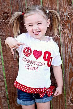 shirt is Color Me Sassy - {Boomer Sooner}.  Excellent choice of clothing for your child today with the OU/Texas game!