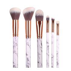 White Marble Makeup Brush Set