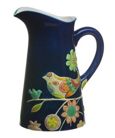 Take a look at this Garden Charm Hand Painted Ceramic Pitcher by Cypress Home on #zulily today!