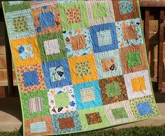 Zoofari Baby Quilt Boy Safari Zoo Aminals by SunnysideDesigns2, $149.00