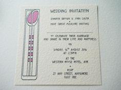 Rennie Mackintosh Wedding Invites - LEA Handcrafted Wedding Stationery & Jewellery - (Powered by CubeCart)