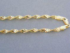Zlatá dámska retiazka jemne točená žlté zlato