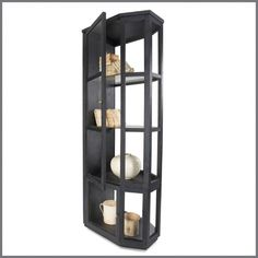 ##DARCY BLACK & GLASS ROOM DIVIDE CABINE