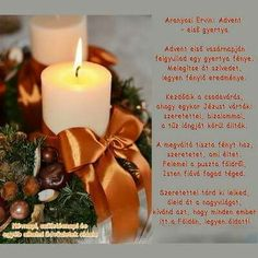Advent 1. gyertya Advent, Winter Christmas, Xmas, Table Decorations, Poems, Scrapbook, Google, Calendar, Christmas