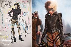 Creating <em>Cruella</em>: Behind the seams of the high-fashion film's punk rock look Punk Rock Fashion, High Fashion, Women's Fashion, Cruella Costume, Disney Reveal, Emma Thompson, Wild Style, Barbie Collection, Emma Stone