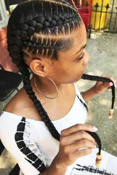 Double Goddess Braids With Beads ❤️ Goddess braids are a nice way to beautify natural hair. Big cornrows updo, braided ponytail hairstyles, and lots of inspiring ideas for black women are here in our gallery! Cornrows Updo, Braided Ponytail Hairstyles, Easy Hairstyles For Medium Hair, Box Braids Hairstyles, Girl Hairstyles, Black Hairstyles, Goddess Hairstyles, Goddess Braids Updo, Trendy Hairstyles