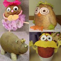 поделки из картошки детям