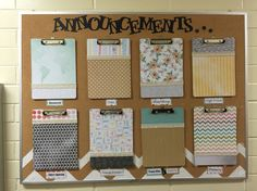 Lds church bulletin board. Church announcements. Neat and organized!