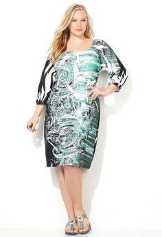 Paisley Stripe Sublimation Dress-Plus Size Dress-Avenue Plus Size Dresses, Plus Size Outfits, Dresses For Work, Formal Dresses, Wrap Dress, Dress Up, Bodycon Dress, Sun Dress Casual, Avenue Dresses