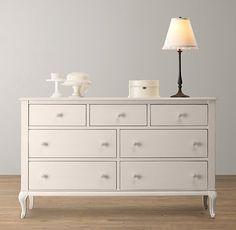 Pretty dresser for a little girl's room- Adele Wide Dresser | Restoration Hardware Baby & Child