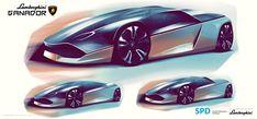 International, Lamborghini Ganador Sketch: Lamborghini Ganador : Proyek Master Seorang Car Designer