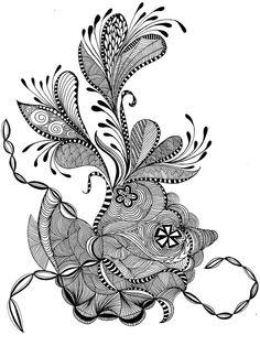 rock flower zentangle pinned with #Bazaart - www.bazaart.me