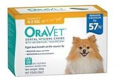 Oravet Dental Chews for Dogs up to 4.5kg - 28 in a Box