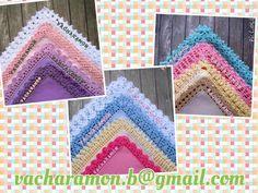 รูปภาพ: My works: vintage crochet handkerchief edging. Twitter: @Vacharamon Instragram: Vachara.mon