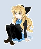 Anime Girl with Bow