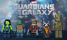 LEGO Guardians of the Galaxy #LEGO #custom #GuardiansoftheGalaxy #minifigure #kockamania #Marvel