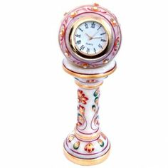 Ethnic Design Marble Table Clock Handcraft Gift Item Home Decor handmade : http://wowemall.com/handicrafts/ethnic-design-marble-table-clock-handcraft-gift-item-home-decor-handmade.html