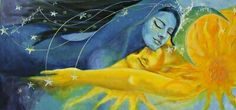 Sun & Moon - Impossible Love by Dorina Costras Art Amour, Tantra Art, Flame Art, Moon Painting, Art Et Illustration, Couple Art, Moon Art, Sun Moon, Art Inspo