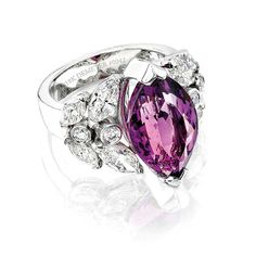 18k gold, diamond, and amethyst ring by Demeter