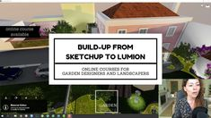Build-Up from CAD file to SketchUp to Lumion Cad File, Enjoy It, Dream Garden, Design Projects, Online Courses, Garden Design, Presentation, Tools, Landscape
