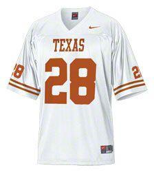 Texas Longhorns Football Jersey: Nike White #28 Replica Football Jersey EUR  58.11 http: