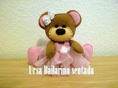 Ursa Bailarina Sentada em Feltro - YouTube