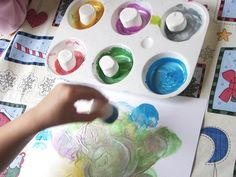 Painting with Marshmallows (love this idea)!!