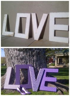 DIY fabric covered love letters- The Budget Savvy Bride